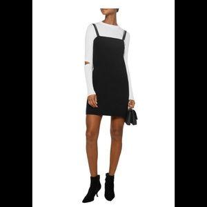 Helmut lang black twill mini dress